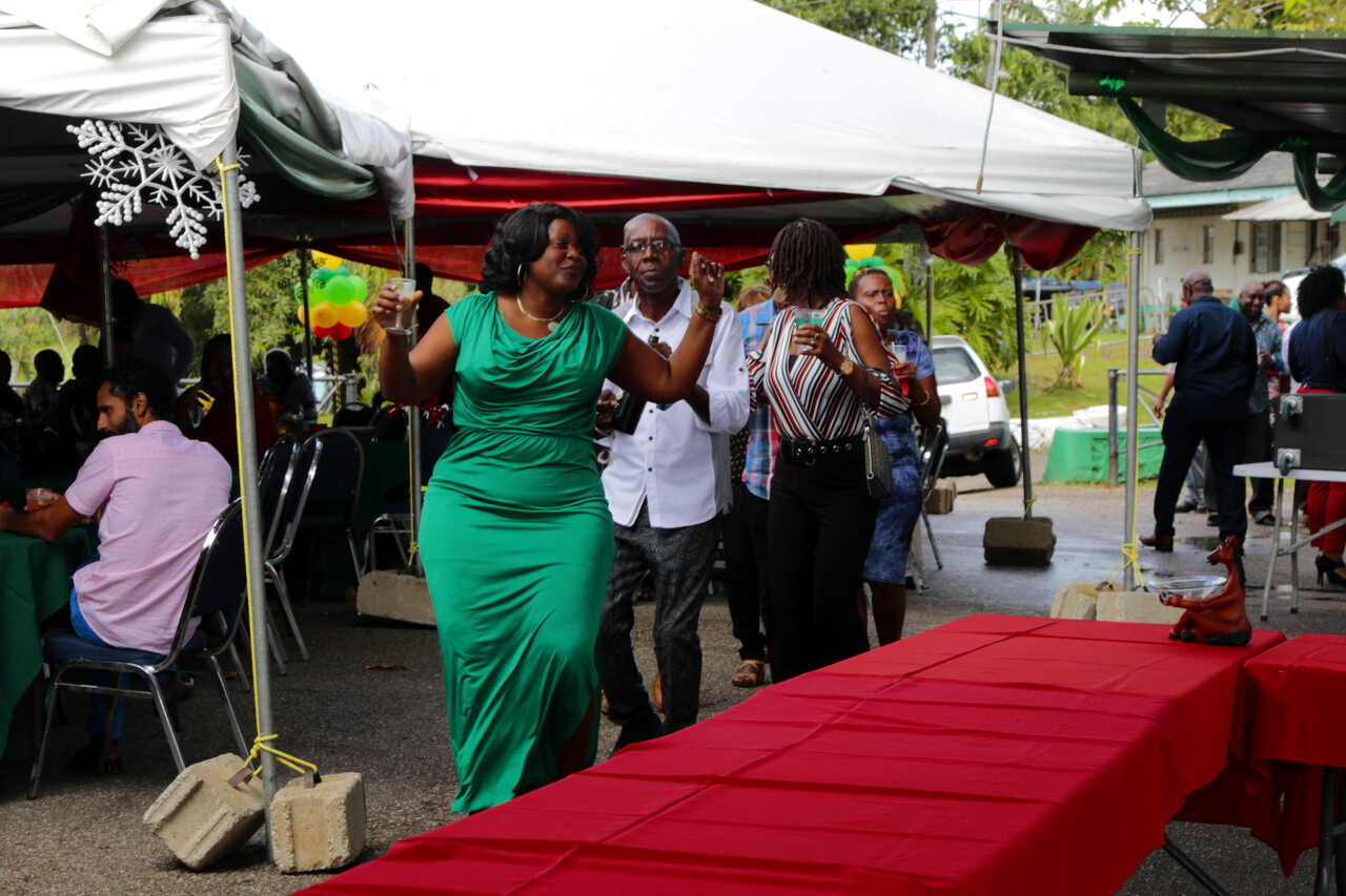 Conga Line led by the Human Resource Manager, Ms. Avelia Stewart