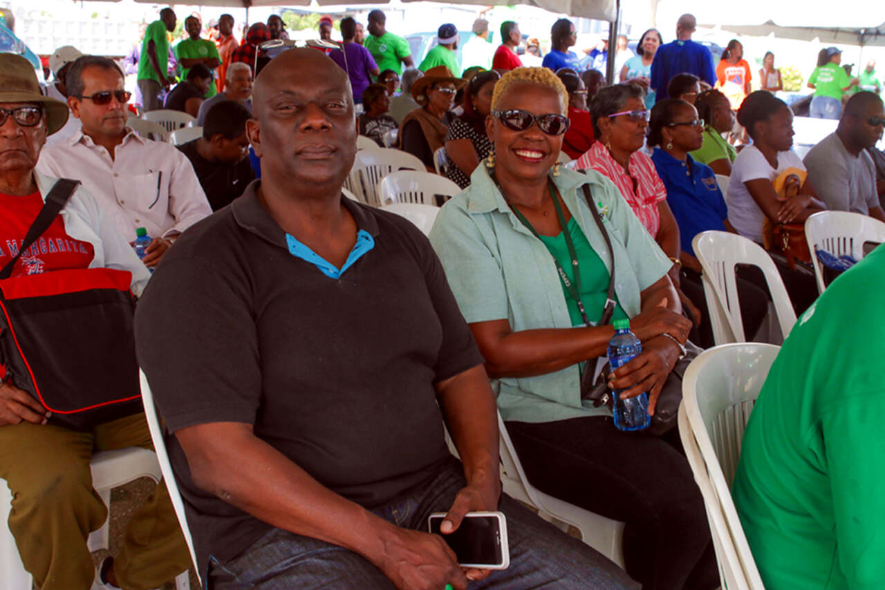 General Manager Mr. Keith Eddy and Corporate Communications Manager Margaret Sampson- Browne were present at the Eddy Hart Recreational Ground