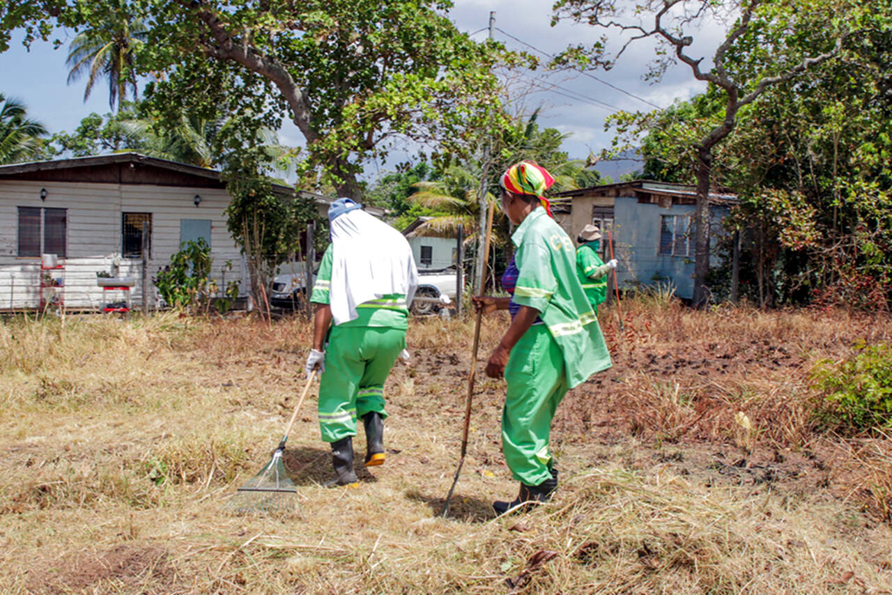 CEPEP workers at various Environmental Work Areas (E.W.A) in Tunapuna and Arima. CEPEP continues to do more